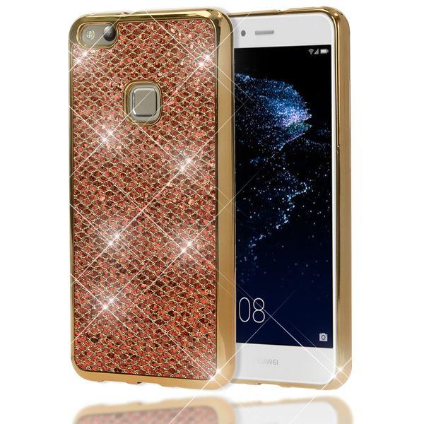 NALIA Handyhülle für HuaweiP10 Lite, Glitzer Slim Silikon-Case Back-Cover Schutz-Hülle, Glitter Sparkle Handy-Tasche Bumper, Dünnes Bling Strass Smart-Phone Etui für P10-Lite – Bild 8