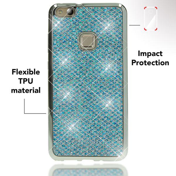 NALIA Handyhülle für HuaweiP10 Lite, Glitzer Slim Silikon-Case Back-Cover Schutz-Hülle, Glitter Sparkle Handy-Tasche Bumper, Dünnes Bling Strass Smart-Phone Etui für P10-Lite – Bild 18