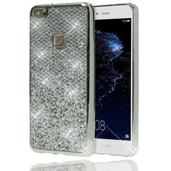 NALIA Handyhülle für HuaweiP10 Lite, Glitzer Slim Silikon-Case Back-Cover Schutz-Hülle, Glitter Sparkle Handy-Tasche Bumper, Dünnes Bling Strass Smart-Phone Etui für P10-Lite – Bild 20