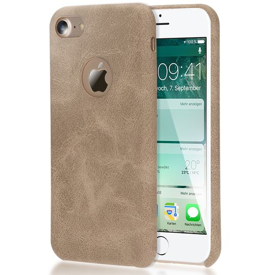 iPhone 7 Kunstleder Hülle von NICA, stoßfeste Schutzhülle Case, Dünne Handyhülle Handy-Tasche, Soft-Cover Slim Backcover Phone Etui Matt Bumper für Apple i-Phone 7 Smartphone – Bild 7