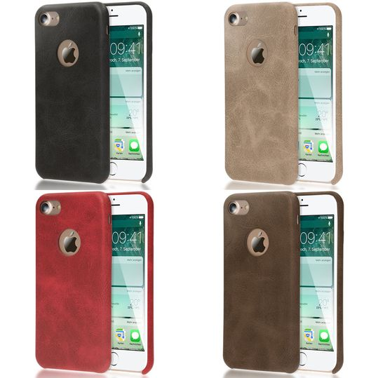 iPhone 7 Kunstleder Hülle von NICA, stoßfeste Schutzhülle Case, Dünne Handyhülle Handy-Tasche, Soft-Cover Slim Backcover Phone Etui Matt Bumper für Apple i-Phone 7 Smartphone – Bild 1