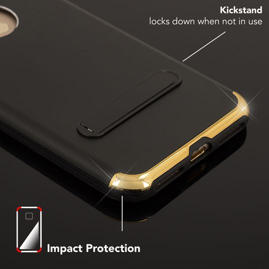 iPhone 7 Ständer Hülle von NICA, Stoßfeste Dünne Schutzhülle Hard-Case mit Standfunktion Handy-Tasche, Ultra-Slim Back-Cover Etui Matt Bumper für Apple iPhone 7 Smartphone – Bild 5