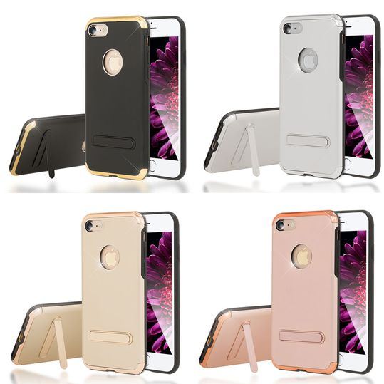 iPhone 7 Ständer Hülle von NICA, Stoßfeste Dünne Schutzhülle Hard-Case mit Standfunktion Handy-Tasche, Ultra-Slim Back-Cover Etui Matt Bumper für Apple iPhone 7 Smartphone – Bild 1