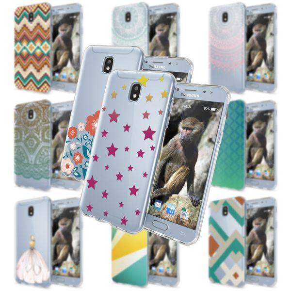 NALIA Handyhülle kompatibel mit Samsung Galaxy J3 2017 (EU-Modell), Motiv Design Schutzhülle Slim Silikon Case, Handy-Tasche Hülle Smart-Phone Etui Muster Back-Cover Dünn – Bild 1