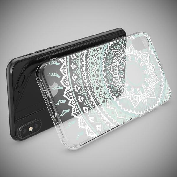 NALIA Hülle für iPhone X XS, Slim Handyhülle Silikon Motiv Case Cover Crystal Schutz-Hülle Dünn Durchsichtig Etui Handy-Tasche Transparent Bumper für Apple iPhone-XS X – Bild 6