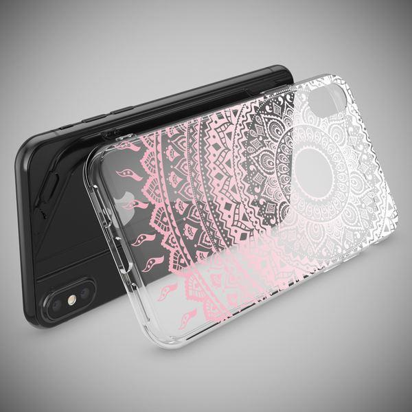 NALIA Hülle für iPhone X XS, Slim Handyhülle Silikon Motiv Case Cover Crystal Schutz-Hülle Dünn Durchsichtig Etui Handy-Tasche Transparent Bumper für Apple iPhone-XS X – Bild 9