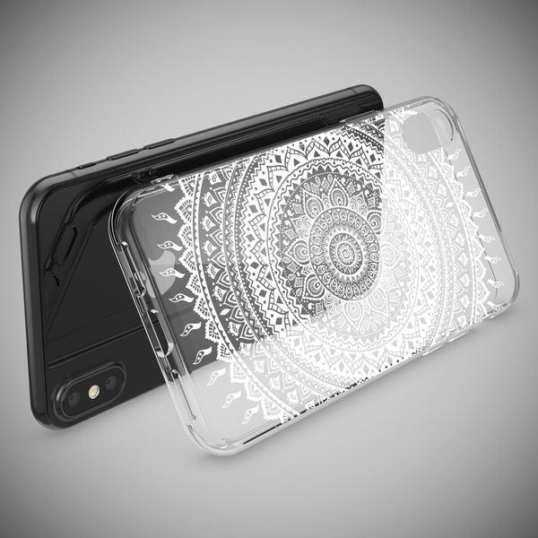 NALIA Hülle für iPhone X XS, Slim Handyhülle Silikon Motiv Case Cover Crystal Schutz-Hülle Dünn Durchsichtig Etui Handy-Tasche Transparent Bumper für Apple iPhone-XS X – Bild 15