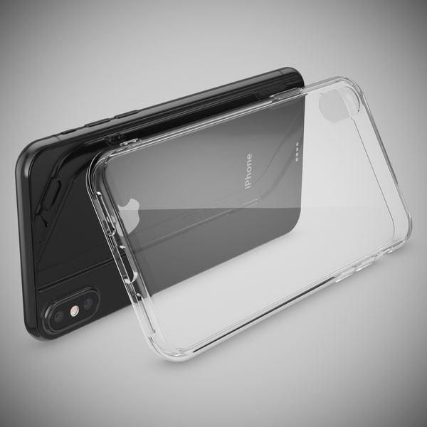 NALIA Handyhülle kompatibel mit iPhone X XS, Ultra-Slim Soft TPU Silikon Case Cover, Crystal Clear Schutzhülle Dünn Durchsichtig, Etui Handy-Tasche Backcover Bumper Smart-Phone Hülle - Transparent – Bild 2