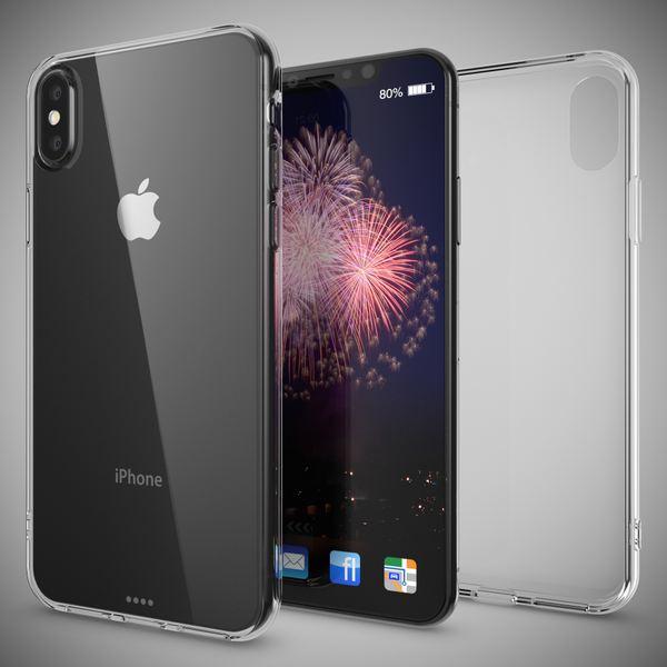 NALIA Handyhülle kompatibel mit iPhone X XS, Ultra-Slim Soft TPU Silikon Case Cover, Crystal Clear Schutzhülle Dünn Durchsichtig, Etui Handy-Tasche Backcover Bumper Smart-Phone Hülle - Transparent – Bild 6