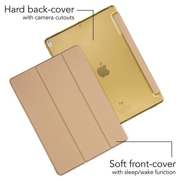 NALIA Smart-Case Hülle kompatibel mit iPad Pro 12,9 Zoll (2017), Ultra-Slim Dünne Tablet, Kunst-leder Hardcase Multi-Ständer, Display-Schutz & Back-Cover Flip-Case Klapphülle – Bild 6