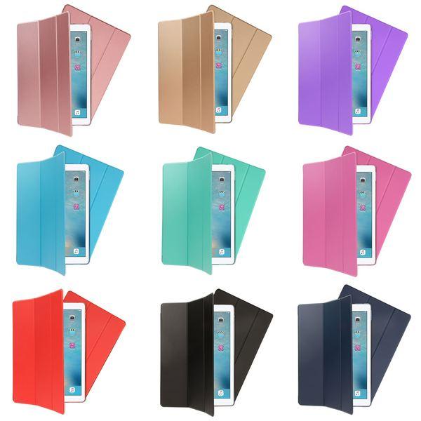 NALIA Smart-Case Hülle kompatibel mit iPad Pro 12,9 Zoll (2017), Ultra-Slim Dünne Tablet, Kunst-leder Hardcase Multi-Ständer, Display-Schutz & Back-Cover Flip-Case Klapphülle – Bild 1