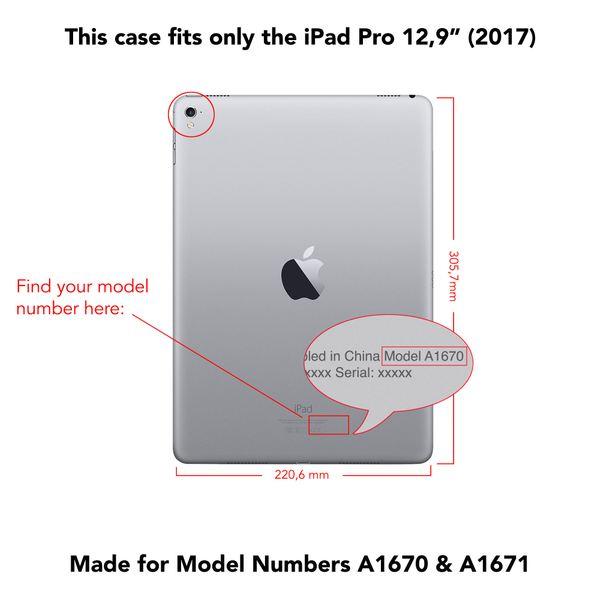 NALIA Smart-Case Hülle kompatibel mit iPad Pro 12,9 Zoll (2017), Ultra-Slim Dünne Tablet, Kunst-leder Hardcase Multi-Ständer, Display-Schutz & Back-Cover Flip-Case Klapphülle – Bild 8