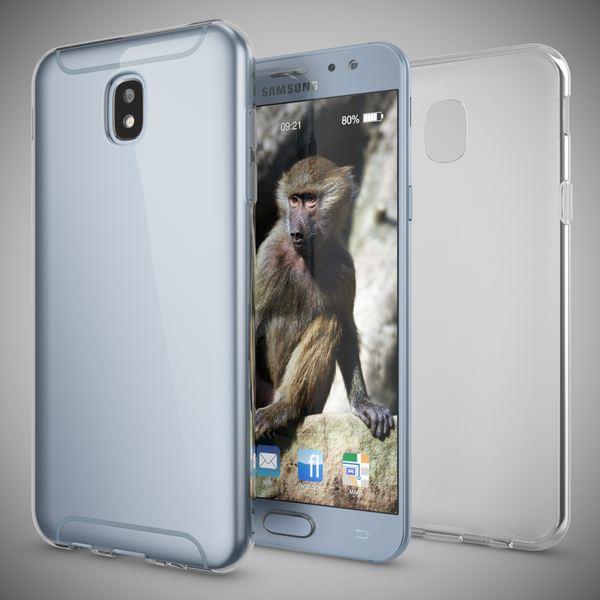 NALIA Handyhülle kompatibel mit Samsung Galaxy J7 2017 (EU-Modell), Ultra-Slim Soft Silikon Case Cover, Crystal Clear Schutzhülle Dünn Durchsichtig, Etui Handy-Tasche Smart-Phone Hülle - Transparent – Bild 5