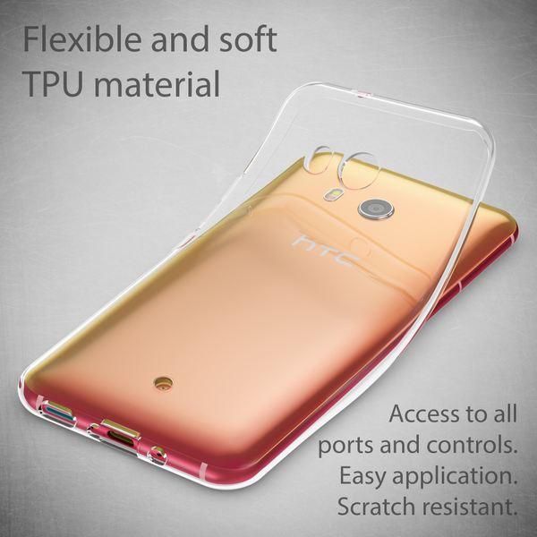 NALIA Handyhülle kompatibel mit HTC U11, Ultra-Slim Soft TPU Silikon Case Cover, Crystal Clear Schutzhülle Dünn Durchsichtig, Etui Handy-Tasche Backcover Skin Smart-Phone Hülle Bumper - Transparent – Bild 2