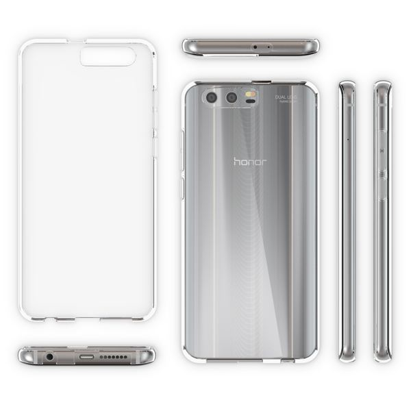 NALIA Handyhülle kompatibel mit Huawei Honor 9, Ultra-Slim Soft TPU Silikon Case Cover, Crystal Clear Schutzhülle Dünn Durchsichtig, Etui Handy-Tasche Backcover Smart-Phone Hülle Bumper - Transparent – Bild 4