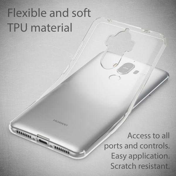 NALIA Handyhülle kompatibel mit Huawei Mate 9, Ultra-Slim Soft TPU Silikon Case Cover, Crystal Clear Schutzhülle Dünn Durchsichtig, Etui Handy-Tasche Backcover, Smart-Phone Hülle Bumper - Transparent – Bild 3
