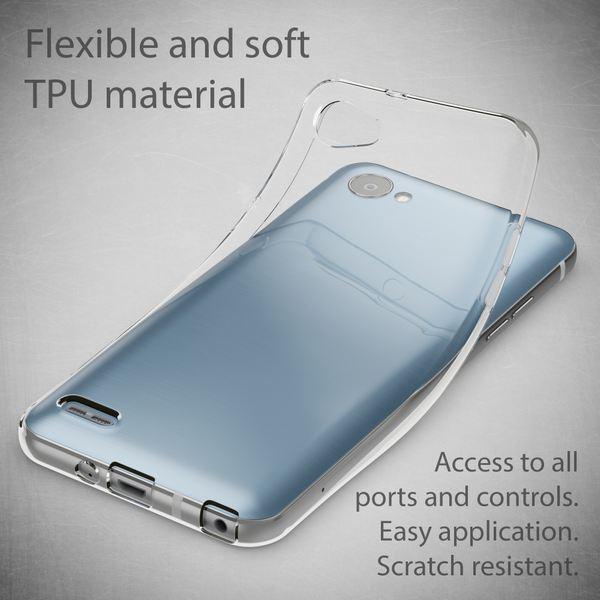 NALIA Handyhülle kompatibel mit LG Q6, Ultra-Slim Soft TPU Silikon Case Cover, Crystal Clear Schutzhülle Dünn Durchsichtig, Etui Handy-Tasche Schale Backcover, Smart-Phone Hülle Bumper - Transparent – Bild 2