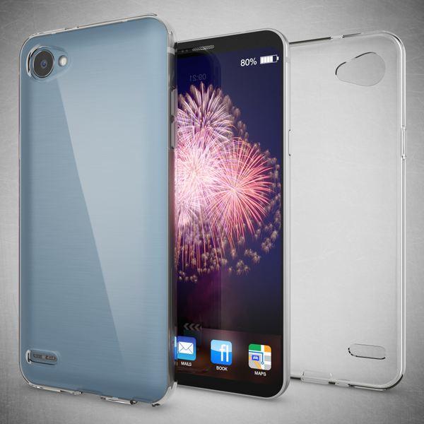 NALIA Handyhülle kompatibel mit LG Q6, Ultra-Slim Soft TPU Silikon Case Cover, Crystal Clear Schutzhülle Dünn Durchsichtig, Etui Handy-Tasche Schale Backcover, Smart-Phone Hülle Bumper - Transparent – Bild 4