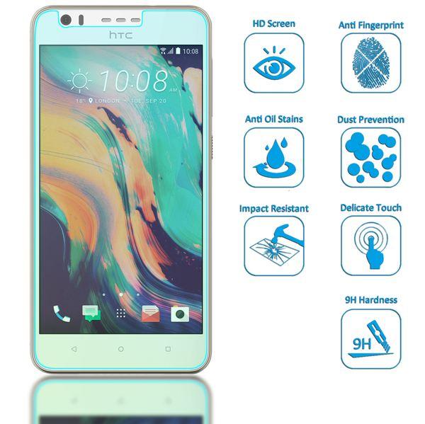 NALIA Schutzglas für HTC Desire 10 lifestyle, Full-Cover Displayschutz Handy-Folie, 9H gehärtete Glas-Schutzfolie Bildschirm-Abdeckung, Schutz-Film HD Screen Protector Tempered Glass - Transparent – Bild 2
