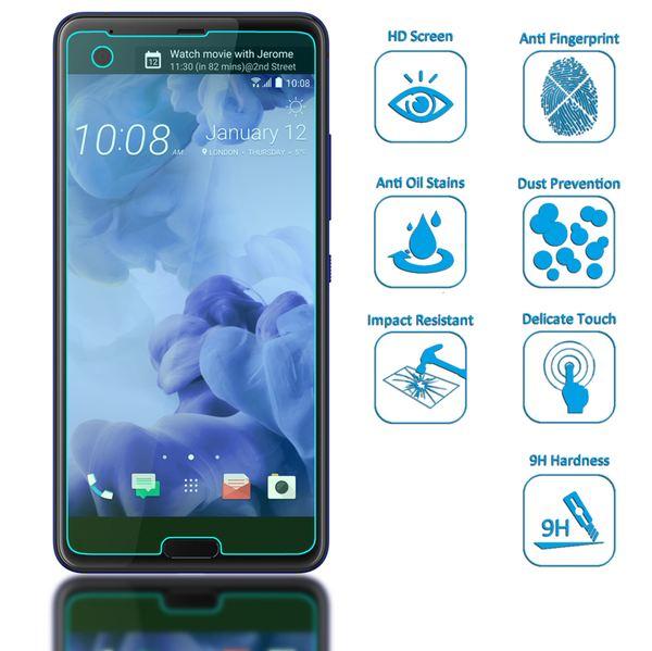 NALIA Schutzglas für HTC U Ultra, 9H gehärtete Glas-Schutzfolie Displayschutz Hüllen-Kompatibel, Handy-Folie Bildschirm Schutz-Film Smart-Phone HD Screen Protector Tempered Glass - Transparent – Bild 2
