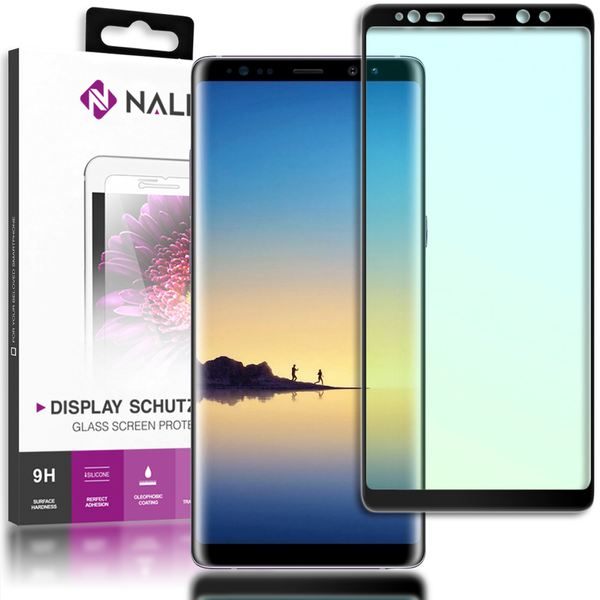 NALIA Schutzglas kompatibel mit Samsung Galaxy Note 8, 3D Full-Cover Displayschutz Handy-Folie, 9H gehärtete Glas-Schutzfolie Bildschirm-Abdeckung Schutz-Film Clear HD Screen Protector – Bild 2