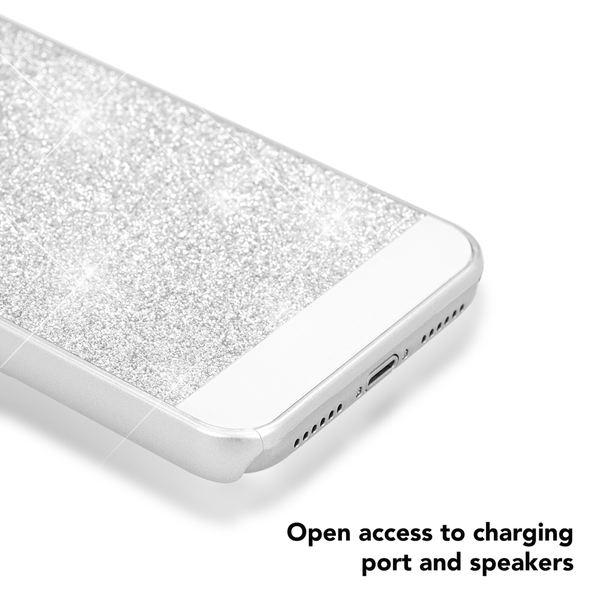 NALIA Glitzer Hülle kompatibel mit iPhone X XS, Glitter Sparkle Handyhülle Slim Hard-Case Back-Cover Schutzhülle, Dünne Bling Strass Handy-Tasche Schale Etui Smart-Phone Bumper – Bild 9
