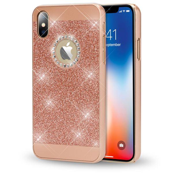 NALIA Glitzer Hülle kompatibel mit iPhone X XS, Glitter Sparkle Handyhülle Slim Hard-Case Back-Cover Schutzhülle, Dünne Bling Strass Handy-Tasche Schale Etui Smart-Phone Bumper – Bild 17