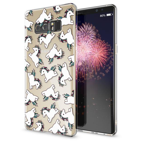 NALIA Handyhülle kompatibel mit Samsung Galaxy Note 8, Motiv Design Schutzhülle Ultra-Slim TPU Silikon Case Dünn, Muster Hülle Etui Handy-Tasche Schale Smart-Phone Back-Cover – Bild 2