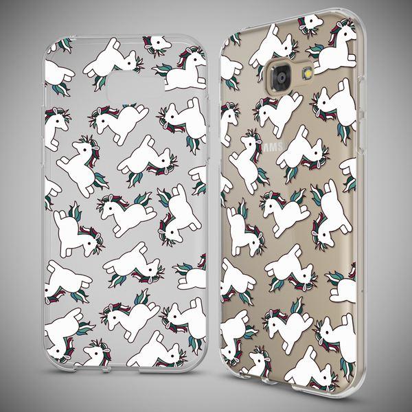 NALIA Handyhülle kompatibel mit Samsung Galaxy A3 2017, Motiv Design Schutzhülle Ultra-Slim TPU Silikon Case Dünn, Muster Hülle Etui Handy-Tasche Schale Smart-Phone Back-Cover – Bild 4
