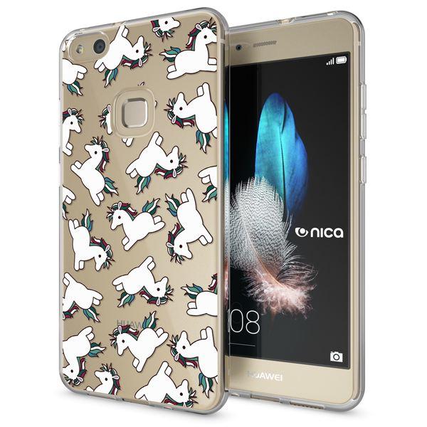 NALIA Handyhülle für Huawei P10 Lite, Slim Silikon Motiv Case Cover Crystal Schutz-Hülle Dünn Durchsichtig, Etui Handy-Tasche Backcover Transparent Bumper für P10Lite – Bild 2