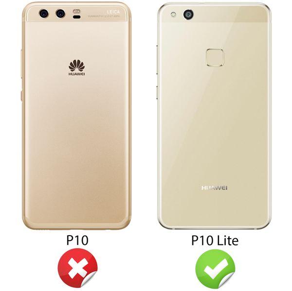 NALIA Handyhülle für Huawei P10 Lite, Slim Silikon Motiv Case Cover Crystal Schutz-Hülle Dünn Durchsichtig, Etui Handy-Tasche Backcover Transparent Bumper für P10Lite – Bild 5