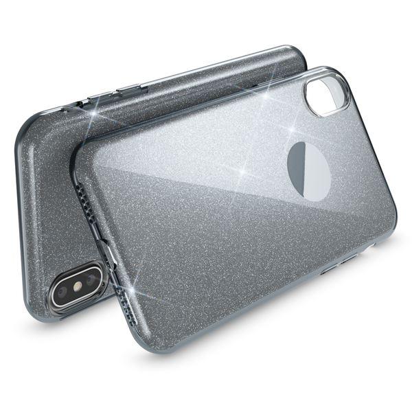 NALIA Glitzer Hülle kompatibel mit iPhone X XS, Glitter Sparkle Handyhülle Slim Silikon Case Back-Cover Schutzhülle, Dünne Handy-Tasche Schale Bumper Bling Strass Smart-Phone Etui – Bild 8