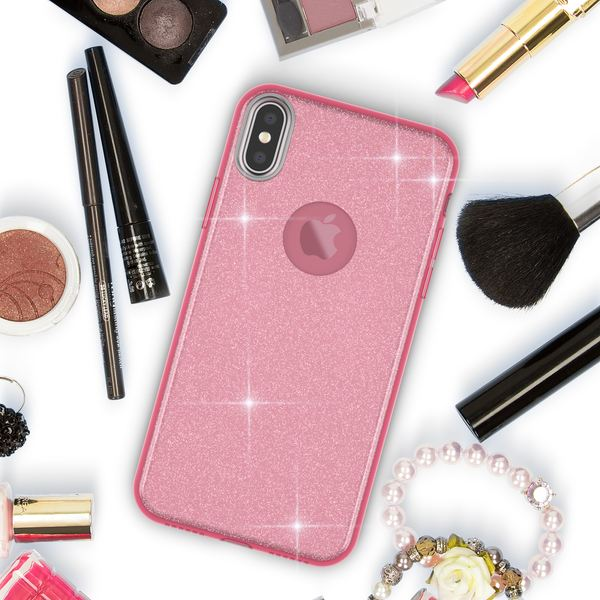 NALIA Glitzer Hülle kompatibel mit iPhone X XS, Glitter Sparkle Handyhülle Slim Silikon Case Back-Cover Schutzhülle, Dünne Handy-Tasche Schale Bumper Bling Strass Smart-Phone Etui – Bild 21