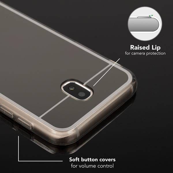 NALIA Spiegel Hülle kompatibel mit Samsung Galaxy J5 2017 (EU-Modell), Ultra-Slim Mirror Case Cover Silikon Handyhülle, Dünne Schutzhülle Backcover verspiegelt, Handy-Tasche Etui – Bild 3