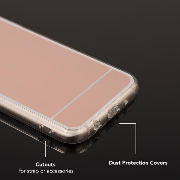 NALIA Spiegel Hülle kompatibel mit Samsung Galaxy J7 2017 (EU-Modell), Ultra-Slim Mirror Case Cover Silikon Handyhülle, Dünne Schutzhülle Backcover verspiegelt, Handy-Tasche Etui – Bild 22