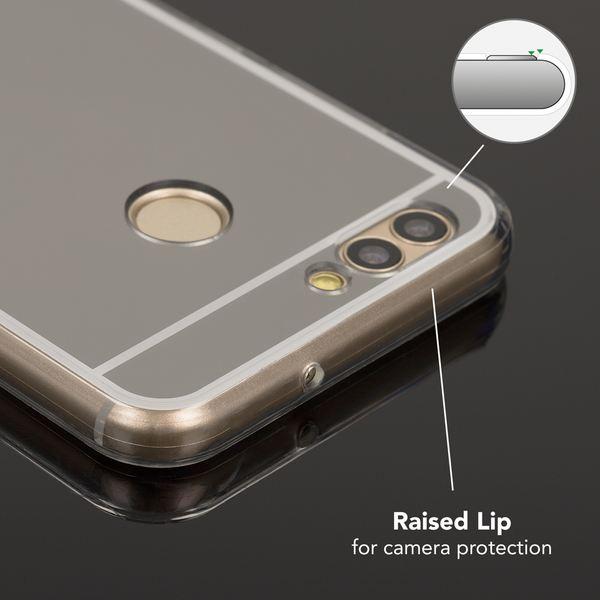 NALIA Spiegel Handyhülle für Huawei Nova 2, Ultra-Slim Mirror Case Cover Silikon-Hülle, Dünne Schutz-Hülle Backcover verspiegelt, Handy-Tasche Bumper Phone Etui für Huawei Nova 2 – Bild 3