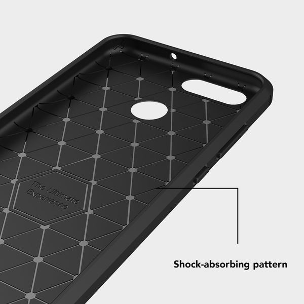 NALIA Handyhülle kompatibel mit Huawei Nova 2, Carbon-Look Design Ultra-Slim Silikon Case Back-Cover, Dünne Schutzhülle Etui Handy-Tasche Telefon-Schale Skin Bumper Smart-Phone Gummi Hülle - Schwarz – Bild 4