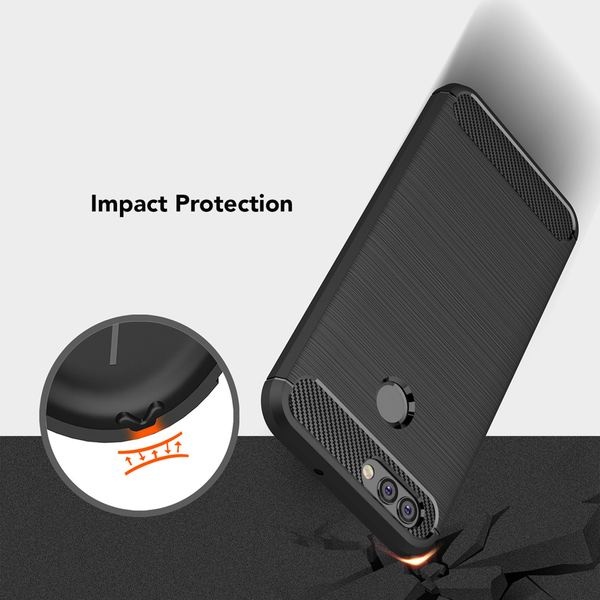 NALIA Handyhülle kompatibel mit Huawei Nova 2, Carbon-Look Design Ultra-Slim Silikon Case Back-Cover, Dünne Schutzhülle Etui Handy-Tasche Telefon-Schale Skin Bumper Smart-Phone Gummi Hülle - Schwarz – Bild 5