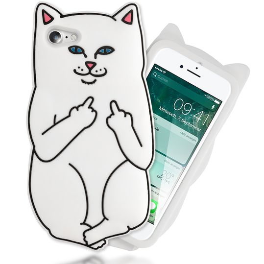 iPhone 8 / 7 3D Hülle Handyhülle von NALIA, Dünnes Silikon Cartoon-Case Cover Stoßfeste Anti-Rutsch Schutzhülle, Backcover Handy-Tasche Bumper Phone Etui für Apple iPhone-7 / 8 – Bild 10