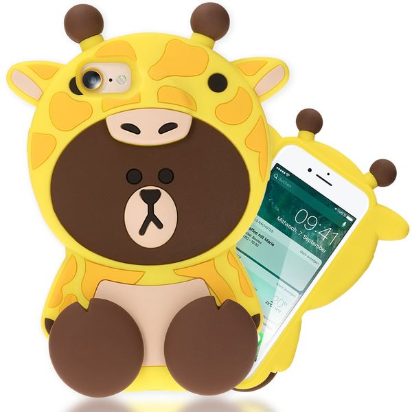 NALIA Handyhülle für iPhone 8 / 7 3D, Dünnes Silikon Cartoon-Case Cover Stoßfeste Anti-Rutsch Schutz-Hülle, Backcover Handy-Tasche Bumper Phone Etui für Apple iPhone-7 / 8 – Bild 22