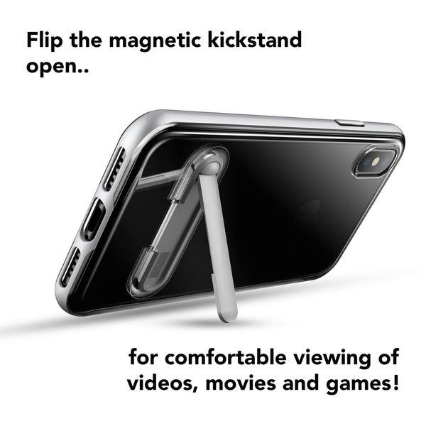 NALIA Ständer Hülle kompatibel mit iPhone X XS, Silikon Handyhülle Case Transparent Dünn mit Standfunktion, Ultra-Slim Handy-Tasche Telefon-Schale Schutz-Hülle Back-Cover Etui Bumper – Bild 25
