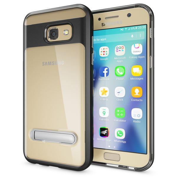 NALIA Ständer Hülle kompatibel mit Samsung Galaxy A5 2017, Silikon Handyhülle Case Transparent Dünn mit Standfunktion, Ultra-Slim Handy-Tasche Schutz-Hülle Back-Cover Etui Bumper – Bild 2
