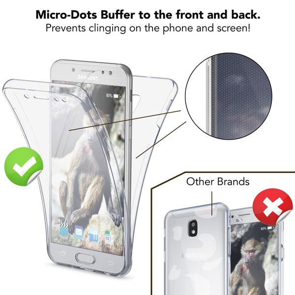 NALIA 360 Grad Hülle kompatibel mit Samsung Galaxy J3 2017 (EU-Modell), Full Cover Vorne & Hinten Doppel-Schutz Handyhülle, Dünnes Ganzkörper Silikon Case mit Display-Schutzhülle – Bild 3