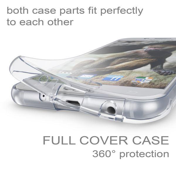 NALIA 360 Grad Hülle kompatibel mit Samsung Galaxy J7 2017 (EU-Modell), Full Cover Vorne & Hinten Doppel-Schutz Handyhülle, Dünnes Ganzkörper Silikon Case mit Display-Schutzhülle – Bild 3