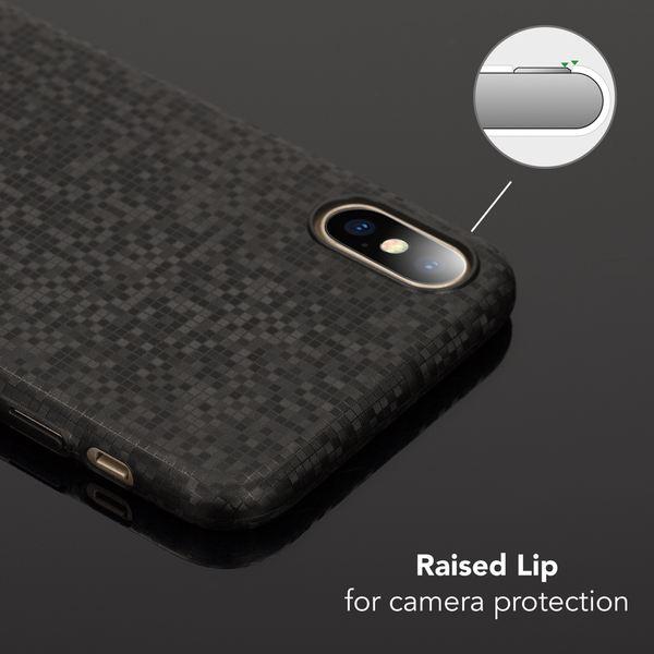 NALIA Handyhülle kompatibel mit iPhone X XS, Mosaik Slim Hard-Case Backcover Schutzhülle, Handy-Tasche im Metall-Look, Dünnes Glänzendes Karo Etui Skin Hülle Fliesen-Muster – Bild 3