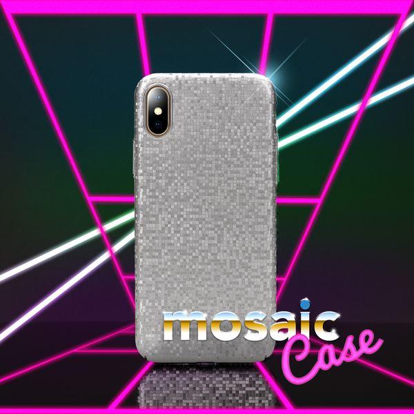 NALIA Handyhülle kompatibel mit iPhone X XS, Mosaik Slim Hard-Case Backcover Schutzhülle, Handy-Tasche im Metall-Look, Dünnes Glänzendes Karo Etui Skin Hülle Fliesen-Muster – Bild 9