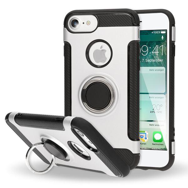 NALIA Handyhülle kompatibel mit iPhone 7, Magnetischer Ring für Auto KFZ-Halterung mit 360-Grad Finger-Halter, Dünne Schutzhülle Cover Hard-Case mit Ständer, Slim Smart-Phone Bumper – Bild 9