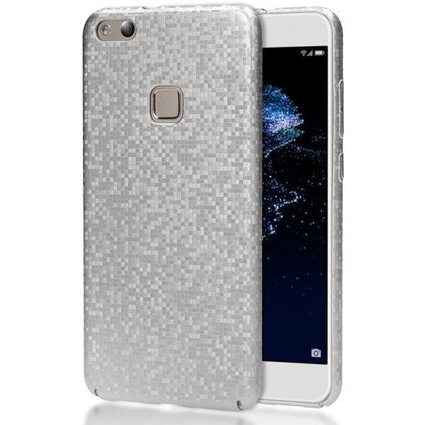 NALIA Handyhülle kompatibel mit Huawei P10 Lite, Mosaik Slim Hard-Case Backcover Schutzhülle, Handy-Tasche im Metall-Look, Dünnes Glänzendes Karo Etui Skin Hülle Fliesen-Muster – Bild 2