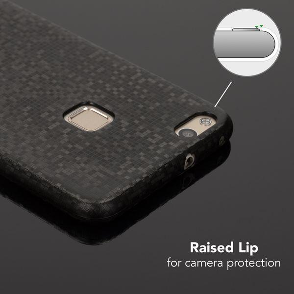 NALIA Handyhülle kompatibel mit Huawei P10 Lite, Mosaik Slim Hard-Case Backcover Schutzhülle, Handy-Tasche im Metall-Look, Dünnes Glänzendes Karo Etui Skin Hülle Fliesen-Muster – Bild 18
