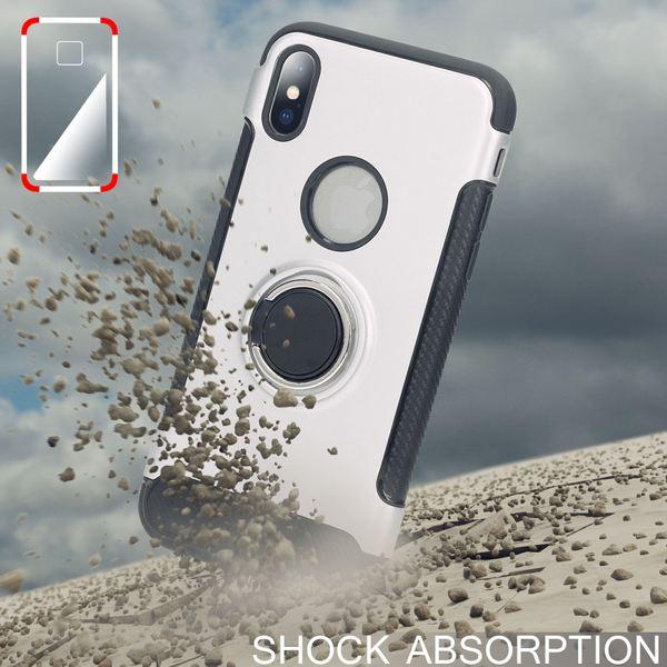 NALIA Handyhülle kompatibel mit iPhone X XS, Magnetischer Ring für Auto KFZ-Halterung mit 360-Grad Finger-Halter, Dünne Schutzhülle Cover Hard-Case mit Ständer, Slim Smart-Phone Bumper – Bild 8